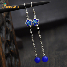 2017 New Arrival Classical Ethnic Style Dangle Earring Trendy Jewelry Blue Imitation imitation jewel Pendant Decorations