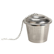 Durable 3 Sizes Silver Reusable 304 Stainless Mesh Herbal Ball Tea Spice Strainer Teakettle Locking Tea Filter Infuser Spice