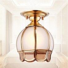 Nordic Klassische Romantische Kupfer U0026 Glas Deckenleuchten Handarbeit Löten  E27 Led Lampe Für Veranda U0026