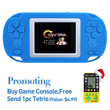 Free Shipping 2.4 Inch Retro 8bit Game Handheld Player Portable Game Console 218 Games Video Game Console for Kids gift
