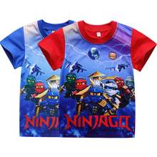 2017 New Summer Children's Clothing Baby Boys Girls T-shirt Ninja Ninjago Cartoon Cotton T-shirt Kids Tops Tees T Shirts