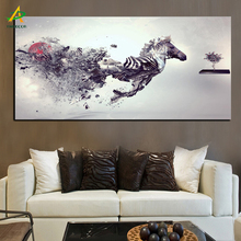 YWDECOR Personalized Creative Running Horse Canvas Painting HD Prints on Canvas Poster Wall Art Picture Living Room Home Decor