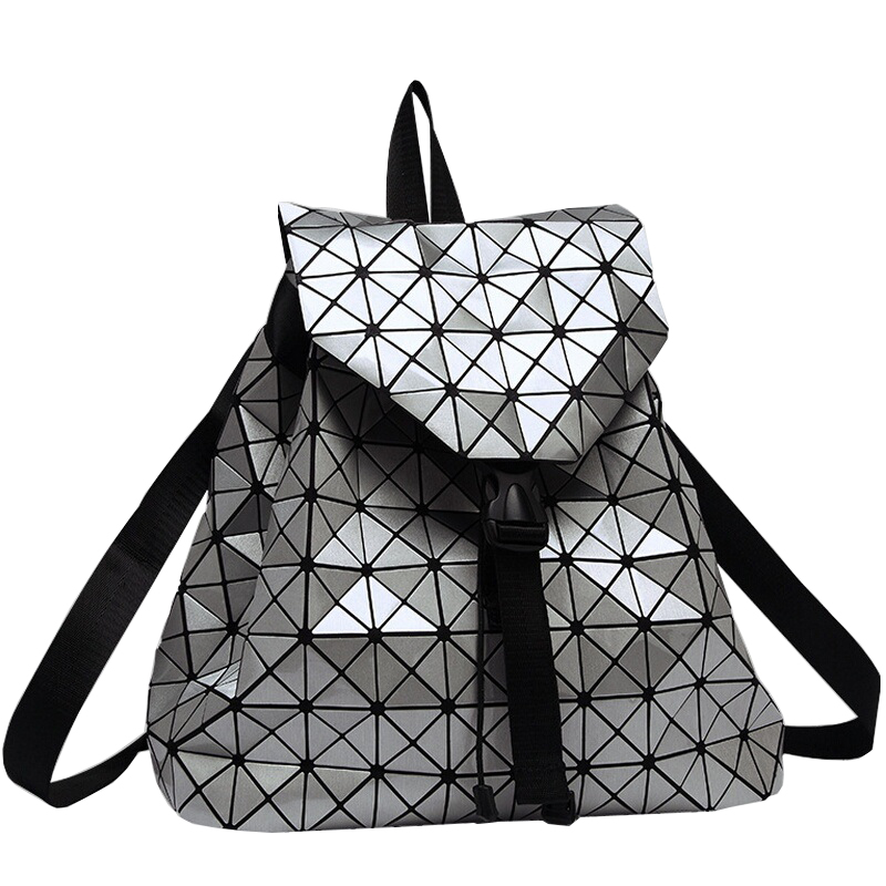 New Fashion Diamond Lattice Bag Backpack Geometric Teenage Women Bag daypack Geometric Joint Rucksack Girls School bag<br>