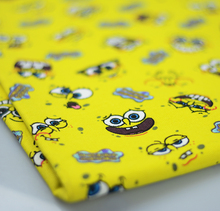 90*145CM patchwork Canvas fabric cartoon Lovely SpongeBob fabric for Tissue Kids Bedding home textile school bag for Sewing