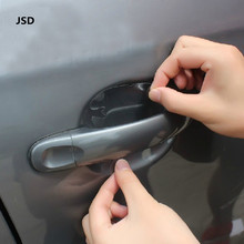 4pcs/Pack JSD Universal Car Side Door Wrist Protective Film Vinyl Fit Handle Stickers For Vw Golf Skoda Octavia Mazda Toyota etc