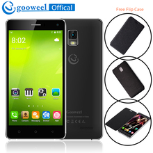 "Free Flip case Gooweel M13 Plus 4G Smartphone Android 5.1 mobile phone MTK6735P Quad Core 5.0"" HD screen 8MP GPS cell phone(China)"