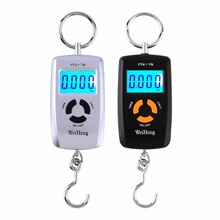Mini LCD Portable Digital Electronic Scale 10 To 45kg 10g for Fishing Luggage Hooking Hanging Scale LCD Display