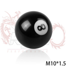 BLACK 8 BALL 52mm Acrylic Racing M10*1.5/ M10*1.25/M12*1.25/M8*1.25 SHIFT KNOB FOR MANUAL SHORT THROW GEAR SHIFTER