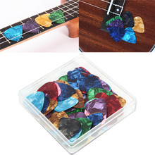 100pcs/Set 0.46mm Acoustic Guitarra Bass Guitar Picks Plectrums with Case Cover for Musical Instruments Parts Accessories(China)