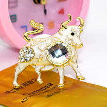 ANZULWAN Gold Buffalo Car Perfumes Air Outlet Vent Outlet Air Freshener 100 Original Fragrance Alloy Car Styling Accessories