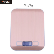 YIERYI Hot Portable pink lcd Kitchen scales backlight 5kg 1g digital Electronic proket scale kitchen for food scales