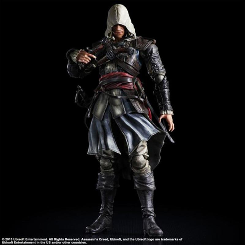 Tobyfancy Assassins Creed Action Figure Playarts Kai Edward James Kenway Model Toys PVC 275mm Assassin Creed Edward PA Kai<br>