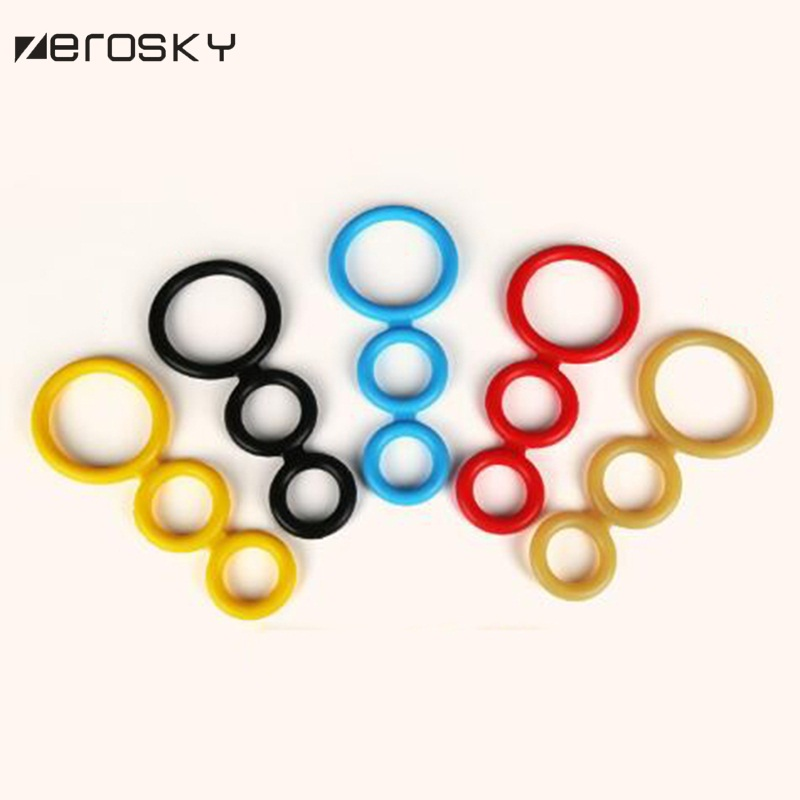 Zerosky Penis Ring Extension 3 Rings Cock Cages Delay Dick Ejaculation Cock Rings Sex Toys for Men Erotic Sex Penis Ring 7