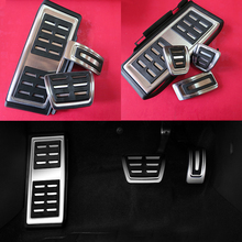 Car Accessories for VW Volkswagen New Tiguan 2017 AT/MT Accelerator Brake Clutch Footrest Pedal Pad,Styling Modify Plate Sticker