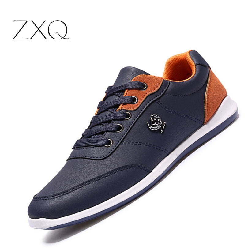 New 2017 Men Shoes Lace Designer Spring Autumn Fashion Men Casual Shoes Male Footwear Men Black Blue