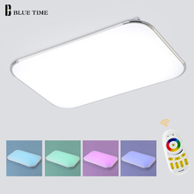 NEW Modern LED Ceiling Light With 2.4G RF Remote Group Controlled Dimmable Color and RGB Changing Lamp For Livingroom Bedroom