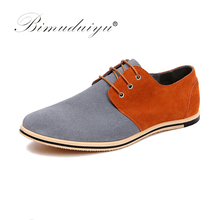 Buy BIMUDUIYU New Pattern Big Size 49 Fashion Design Mixed Colors Real Suede Leather Men Casual Shoes Formal Dress Flat Oxford Shoes for $30.90 in AliExpress store