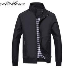 New 2017 Jacket Men Fashion Casual Loose Mens Jacket Sportswear Bomber Jacket Mens jackets men and Coats Plus Size M- 5XL (China)