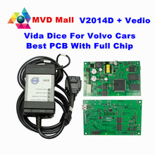 2016 Newest Version 2014D For Volvo Vida Dice Professional Car Diagnostic Tool Dice Pro With Full Chip Green Board Free Shipping