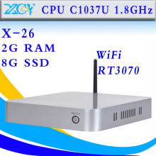 XCY X-26  Celeron 1037U dual core 2g ram 8g ssd with wifi thin client mini pc Computer windows 7/XP