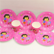 dora the explorer theme party 20person party supplies 40pcs tableware set  kids children party decoration paper plates cups ,ect