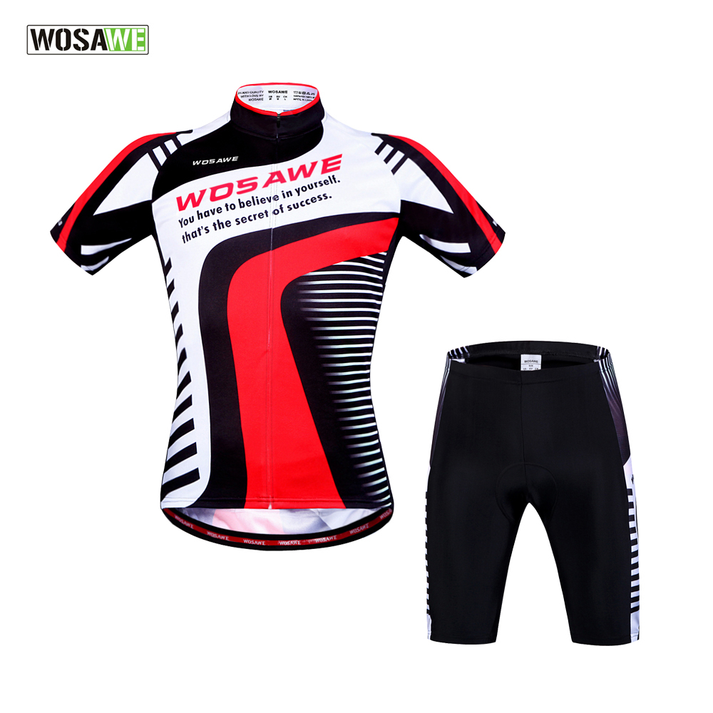 WOSAWE Pro Cycling Jersey Sets Short Breathable Cycling clothing Mountain Bike Clothes ciclismo Quick Dry Bicycle Sportswear<br><br>Aliexpress