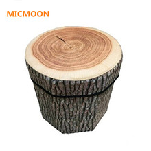MICMOON 3D Fruit Folding Storage Ottoman Cube Foot Stool Seat Footrest Foldable Storage Box