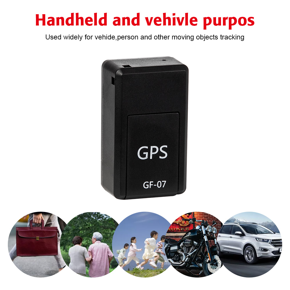 Sos-Tracking-Devices Location Systems Vehicle GPS GF-07 Magnetic Child for Car Mini Permanent title=