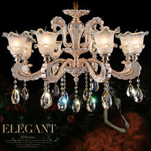 fashion crystal chandelier 8 Arms Luxury crystal light Fashion chandelier crystal light Modern Large chandeliers Diameter 80cm(China)