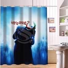 Why So Serious Bloody Joker Custom Made Design Waterproof Shower Curtain Bathroom Curtains(China)