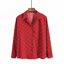 2017 autumn new arrival female students sweet fresh polka dot shirt women's fashion loose all-match shirts girls blusas(China)