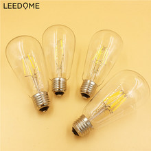 E27 Dimmable Vintage LED Edison Filament Bulb Lamp ST64 2W 4W 6W 8W Retro Bulbs 110V 220V Lampada Led Replace Incandescent Light