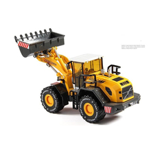 1/50 Scale  Large Forklift Bulldozer Simulation Model Toys For Children Engineering Vehicles Alloy Construction Car Series