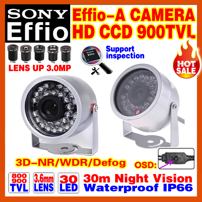 Mini Effio-E-A 1/3Sony CCD Hd Cctv Camera 960H 900TVL Indoor/Outdoor Waterproof IP66 Infrared D/Night Vision 30m OSD Meun Video<br><br>Aliexpress