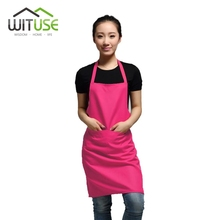 WITUSE Women Apron Korean Waiter Aprons With Pockets Restaurant Kitchen Cooking Shop Art Work Apron