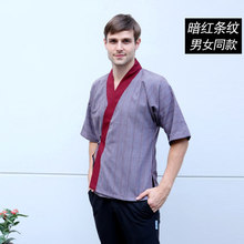 Wholesale Short Sleeve Japanese and Korean Cuisine Chefwear Kimono Coat Waiter Uniforms Suits Unique Cook Clothing Free Shipping(China)