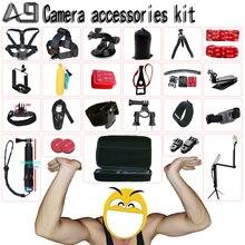 A9 Xiaomi yi 4k Accessories set go pro hero 5 4 3 kit mount SJCAM SJ4000 / Gopro / eken h9 / sony action cam tripod  Store)