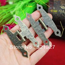 65 * 34MM antique wooden box hinge metal hinge  H-type 4-hole flat piece H-type hinge link