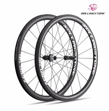 UCI APPROVED Rolling Stone 40Aero High TG Carbon Road wheelset 700c 40mm clincher with swisstop black prince Silver white color(China)