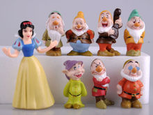 Hot Snow White and the Seven Dwarfs Figures / Cake Topper/ Kids Gift 8pcs(China)