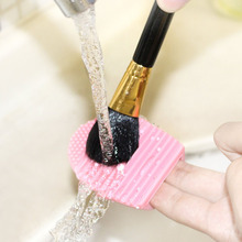 1 Pcs color random Makeup Brush Silicone Cleaning Washing Tools Scrubber Board Cosmetics Makeup Glove Brushes Cleaner egg
