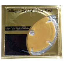 20pcs/lot Gold Cosmetics Breast Lift Mask Gold Powder Gel Collagen Breast Chest Mask Crystal Collagen Thorax Mask