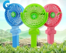 5 Colors Foldable Hand Fans Travel Home Handheld Mini Fan Personal Fan Hand Bar Desktop Fan Battery Operated Rechargeable(China)