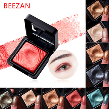 Beezan eye makeup powder single color high shimmer eyeshadow minerals waterproof heavy gold red glitter eyeshadow palette BY009