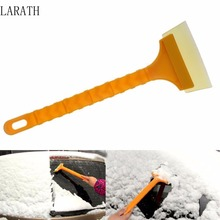 Soft Oxford material Car Ice Scraper Auto Long Handle Ice Shovel Scraper Snow Removal Tool Universal Vehicle Cleaning Tool(China)