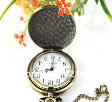 1 PC Vintage Bronze Chinese Style Dragon Pocket Watch Clock Mens Gift Chain New