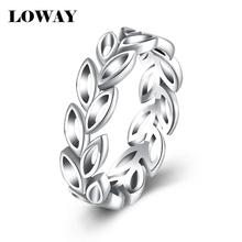 LOWAY 2017 New Collection Authentic Laurel Wreath Laurel Leaves Women Ring Fine 925 Sterling Silver Jewelry JZ6160