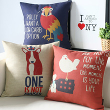 Simple Life Lovely modern dog bird pillow ,Cartoon Pillow cushion , pillowcase,sofa cushion home decorative Pillows