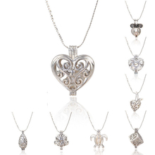 New Fashion Love Wish Simulated Pearl Necklace Set for Women Girls Oyster Drop Pendant Wedding Jewelry