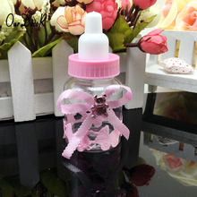 6pcs/lot Milk Bottle Candy Box Party Supplies Baby Feeding Bottle Wedding Favors and Gifts Box Baby Shower Baptism Decoration